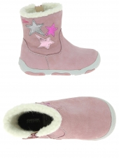 boots fourres geox b640qc-00032-c8206 rose