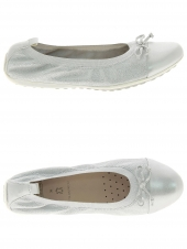 chaussure basse style ballerine geox j42b0d-000tc argent
