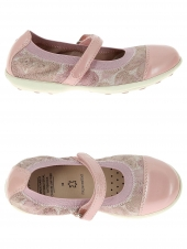 chaussures basses de style ballerine geox j7226b-0jshi rose