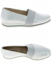 chaussures plates hassia 301653-02 g blanc