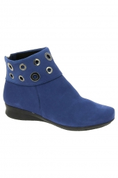 bottines casual hirica romagne bleu