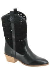 bottines d'ete hispanitas hv00420-kansas noir