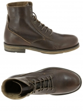 boots hub footwear scrum marron