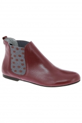 bottines fashion ippon vintage sun colors bordeaux