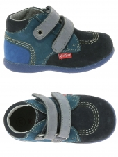 bottillons kickers babyscratch bleu