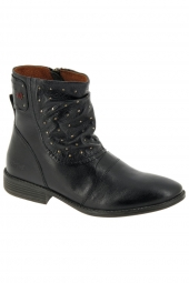 bottines fashion kickers rolling noir