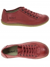 chaussures plates kickers hollyday rouge