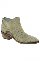 bottines d'ete little la suite 1603-waxy kaki vert