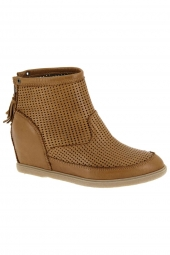 bottines d'ete minka harmony marron