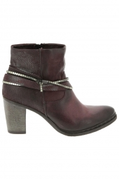 bottines de ville mjus 580202-101 rouge