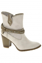 bottines d'ete mustang 1182501 gris