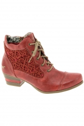 bottines d'ete mustang 1187501 rouge