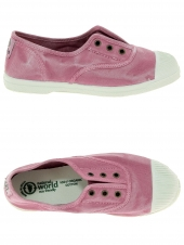 chaussures en toile natural world ingles elastico enzimatico rose