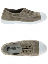 chaussures en toile natural world ingles elastico enzimatico beige