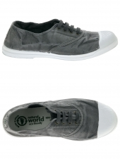 chaussures en toile natural world ingles elastico gris
