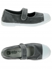 chaussures en toile natural world mercedes enzimatico gris