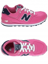 chaussures en toile new balance kl574 pfp rose