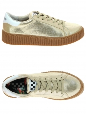 baskets mode no name picadilly sneaker or/bronze