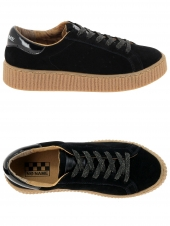 baskets mode no name picadilly sneaker noir