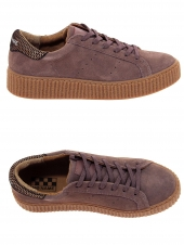 baskets mode no name picadilly sneaker violet