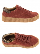 baskets mode no name picadilly sneaker rouge
