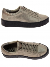 baskets mode no name picadilly sneaker taupe