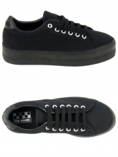 baskets mode no name plato sneaker noir