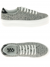 baskets mode no name plato sneaker gris