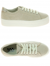 baskets mode no name plato sneaker beige