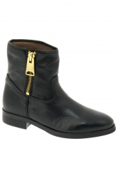 bottines d'ete nubikk emma big zip noir