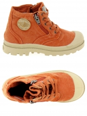 chaussures en toile palladium pims cvs orange