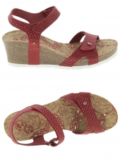 nu-pieds style casual panama jack julia snake rouge