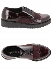 chaussures plates peppa rose 57050 h670 bordeaux