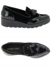 chaussures plates peppa rose 65065 h521 noir