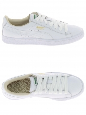 baskets mode puma basket classic blanc