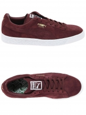 baskets mode puma suede classic bordeaux