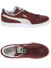 baskets mode puma suede bordeaux