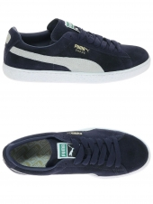 baskets mode puma suede bleu