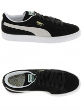 baskets mode puma suede noir