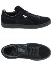baskets mode puma suede mono noir