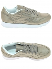 baskets mode reebok cl leather melted or/bronze