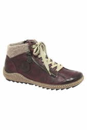 bottines casual remonte r4775-35 bordeaux