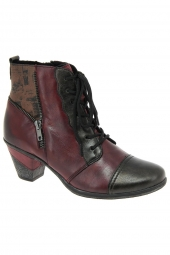 bottines de ville remonte d8782-35 bordeaux