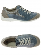 chaussures plates remonte r3403-14 bleu
