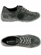 chaussures plates remonte r3408-03 gris