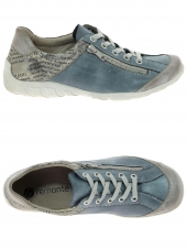 chaussures plates remonte r3417-14 g bleu