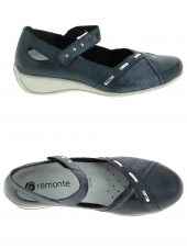 chaussures plates remonte r9842-14 bleu