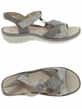nu-pieds remonte d7668-64 taupe