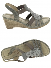 nu-pieds style casual remonte d6747-91 taupe