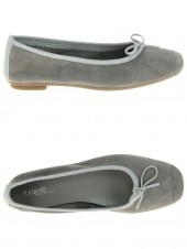 ballerines reqins harmony peau gris